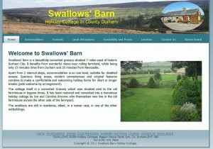 Swallows' Barn is a beautifully converted granary situated 7 miles west of historic Durham City. It benefits from wonderful views over rolling farmland, while being only 15 minutes drive from Durham and 35 minutes from Newcastle.