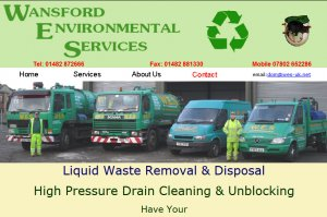 Liquid waste removal and disposal, high pressure drain cleaning and unblocking.